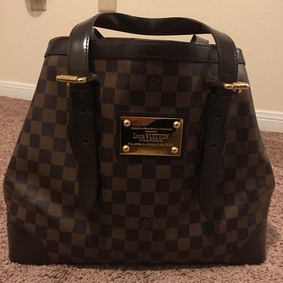 76e66c2a0b0e Louis Vuitton Handbags - LOUIS VUITTON Damier Ebene Hampstead MM